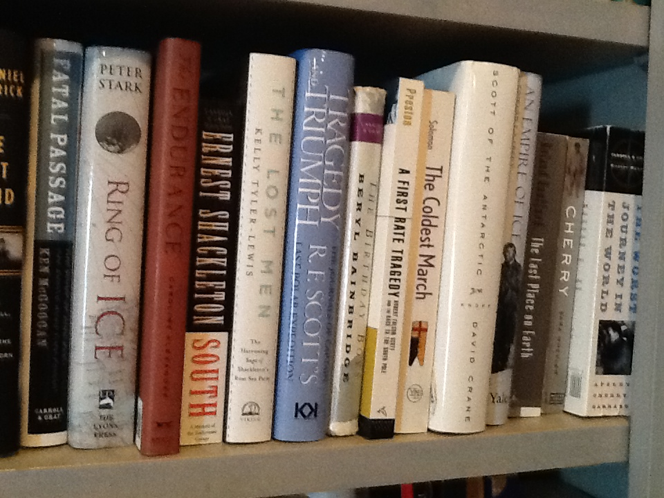 Some of my South Pole books. Ask nicely, and I might let you borrow one.