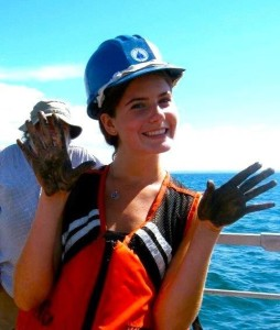 The Child gets her hands dirty on the high seas