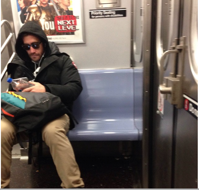Be honest. Would you recognize Jake G? At least he's not man-spreading. But not for lack of trying