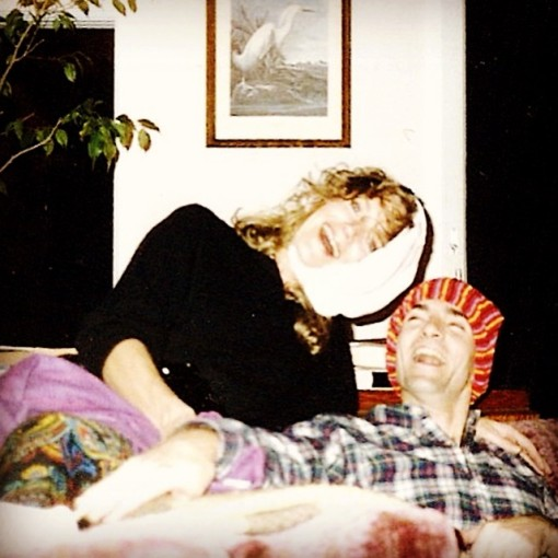 Speaking of being the center of attention, The Dude and I demonstrate the secret to a long marriage: racy underpants. Worn on your head, of course