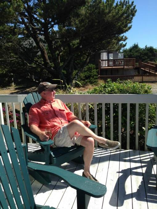 If Roger's not on a deck, you can bet he's on the Porch of Ill Repute