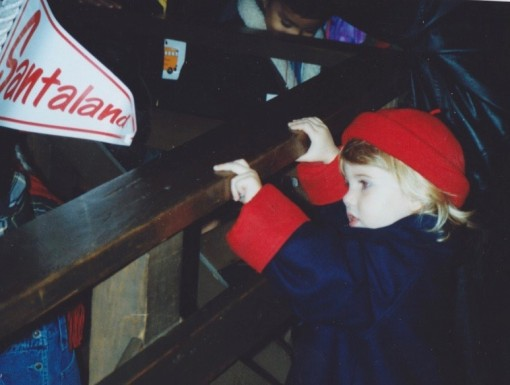 The Child waiting her turn to see the Macy's Santa, who was not Edmund Gwenn that year