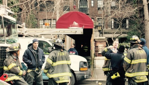 Firemen stand around waiting for Con Ed to turn off the darned electricity already so they can get in there with their hoses and wreak some havoc