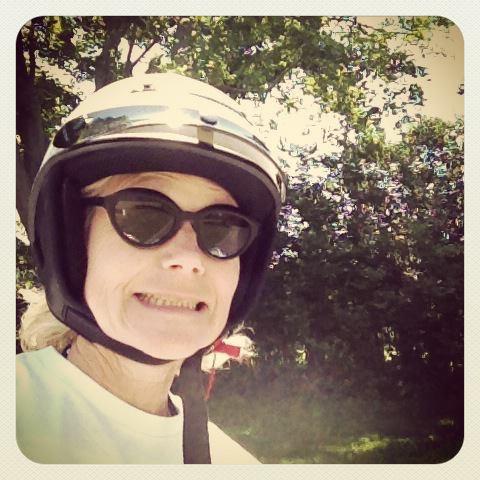 Happy Vespa rider me.