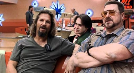 the Dude abides. Here he is, doing his bowling thing with buddies Buscemi (also pictured at top in Fargo) and John Goodman