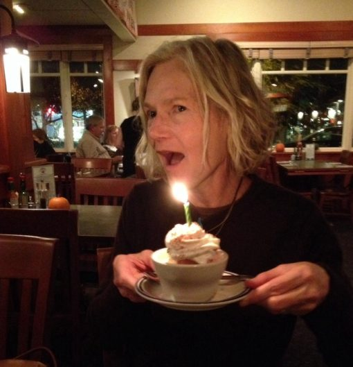 A relatively-recent birthday celebrated with my Incredible Mom and Equally-Incredible Sister. The one candle is, obviously, a place-holder