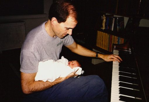 The Dude introduces The Child to Mr. Piano
